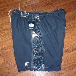 Caribbean Joe lined blue swim trunks shorts - 2X